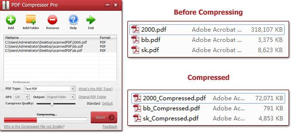 PDF Compressor screenshot